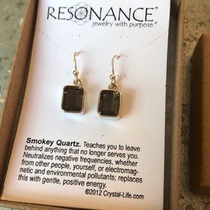 Genuine Smokey Quartz & Sterling Silver Earrings